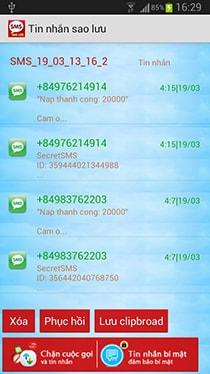 Tải ứng dụng sao lưu tin nhắn cho android
