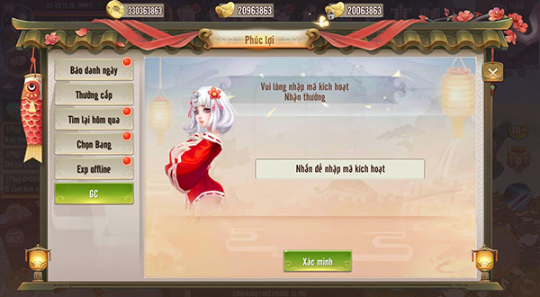 Hướng dẫn nhập GiftCode Thiên Long Kiếm 02