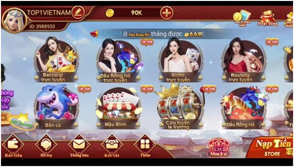 Giới thiệu app game bài CF68 02