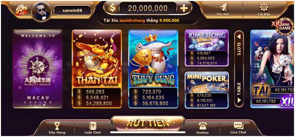 Những game bài đổi thưởng ATM uy tín nhất hiện nay 02